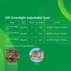 Spek LED Downlight Adjustable Spot