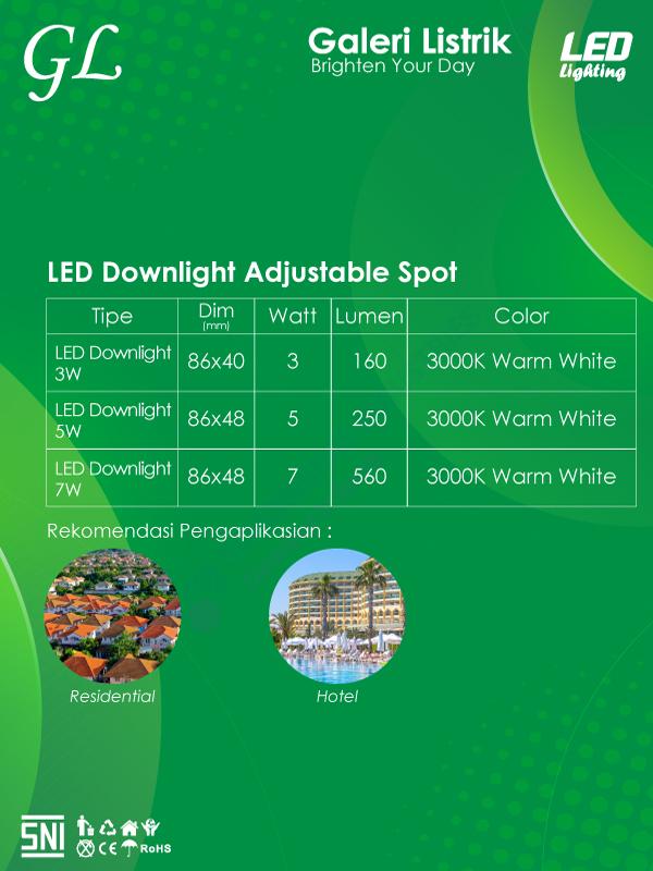 Spek LED Downlight Adjustable Spot