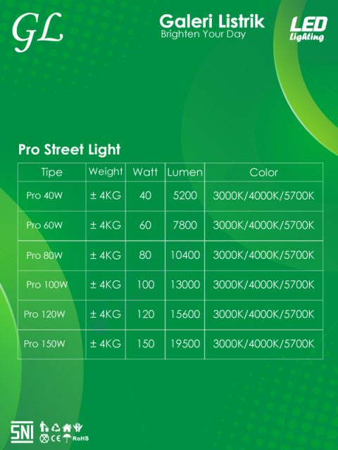GL LED Pro Street Light