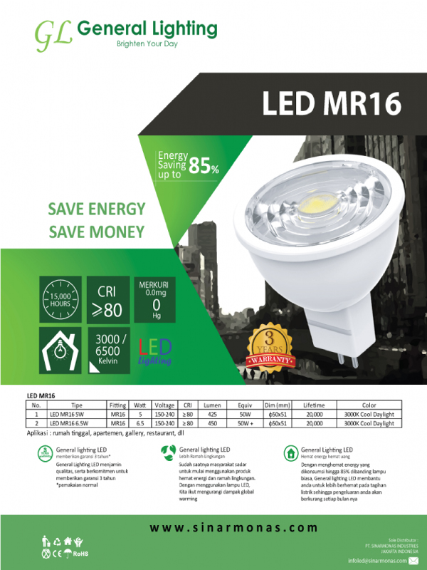GL LED MR 16