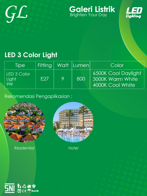 Spek LED 3 Color Light