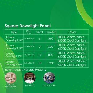 Spek Square-Downlight Panel